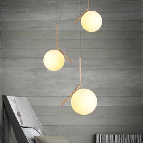 Europe Du Nord LED Lustres En Verre Éclairage Globe Pendentif Lumières Restautant Chambre Salon Lampes Suspendues Luminaire AC85-265V
