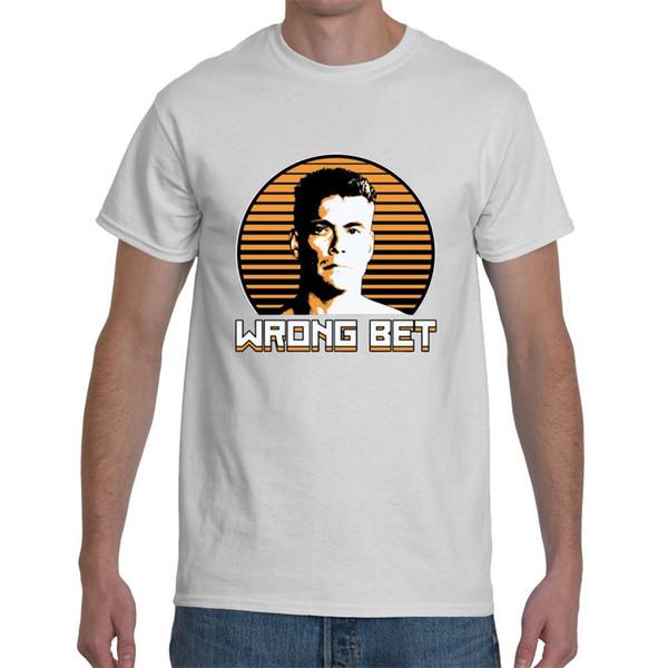 Maglietta da uomo Awol Jean Claude Van Damme Wrong Bet bianca T-shirt taglia S-5XLGame Top da uomo