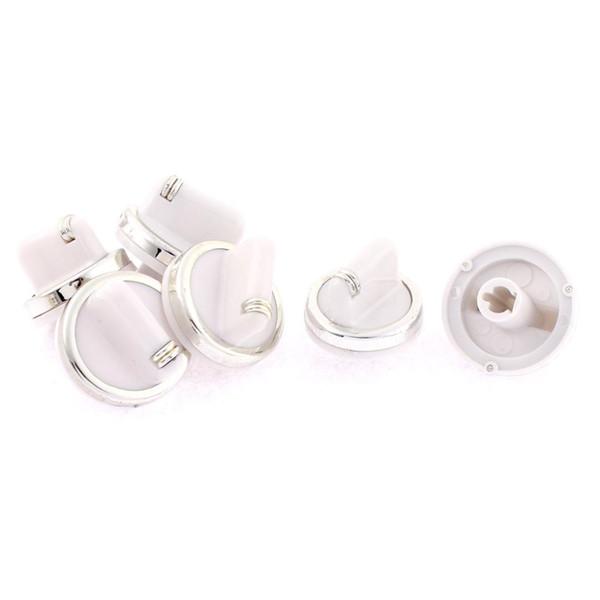 Toptan-6 Adet / grup 7mm Delik Iç Çapı Elektrikli Brülör Soba Fırın Yedek Kontrol Aralığı Topuzu Beyaz