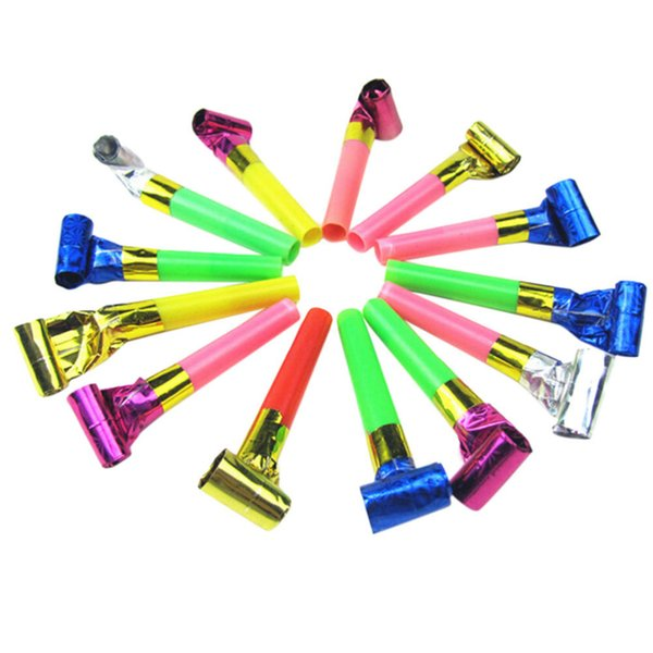 Blowout 10Pcs Colorful Funny Birthday Party Blowing Dragon Blowout Baby Birthday Supplies Toys Gift Whistles Kids Childrens