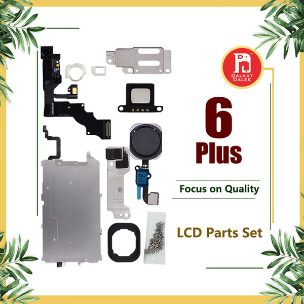For iPhone 6 Plus Front Camera Home Button Ear Pieces Screw Sets Metal Plate Bezel LCD Display Touch Screen Digitizer Full Complete Parts