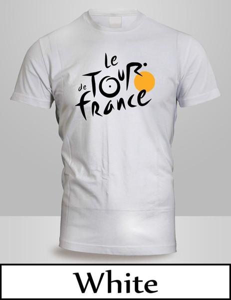 Tour de France T-Shirt Dos Homens Preto Branco Francês Motociclista Impressão T shirt Verão Curto Imprimir T-Shirt Masculino Marca