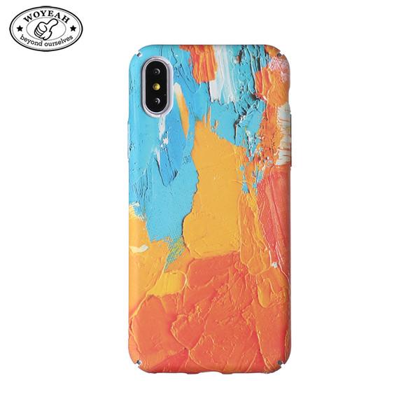 Satın Al Yağlıboya Tasarım Aydınlık Telefon Kılıfı Boyama Sert Plastik Cep Telefonu Kılıfı Iphone Durumda özel 133 Dhgatecomda