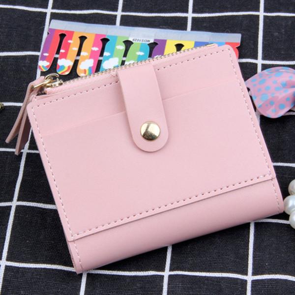 2018 güzel sevimli Cüzdan şeker renk küçük mini kart sikke kadın rahat katı Kare çanta deri moda zarif hediye popüler C25