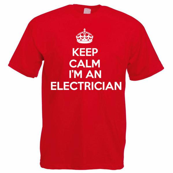 Sakin ol ELEKTRONİK - Elektrik / Sparky / Yenilik Temalı Erkek T-Shirt