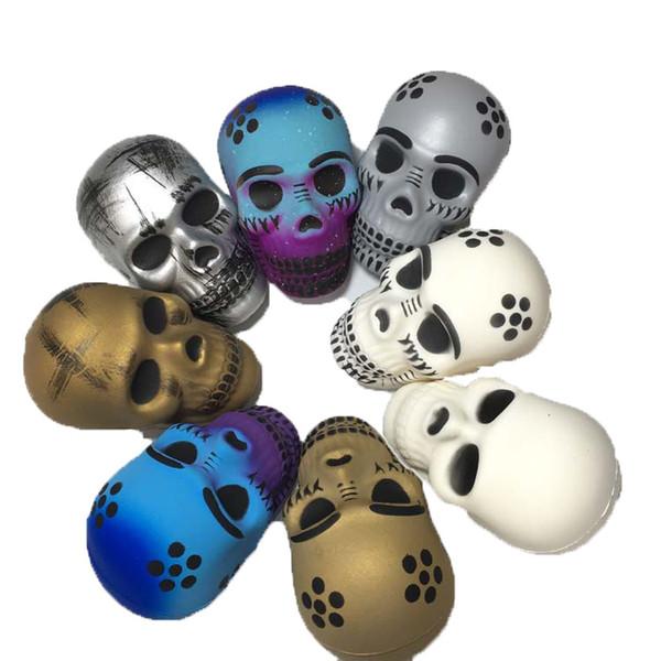 9 CM Squishy Skull Squishy Testa Del Cranio Di Halloween Lento Aumento Morbido Colorato Spremere Pane Torta Regalo Di Natale Regalo Decompressione Favore di Partito GGA916