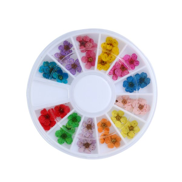 Nail decals Mixed Dried Flowers 3D Nail Art DIY Bottle Decoration Flower Manicure Tips DIY water decals 3d 0927