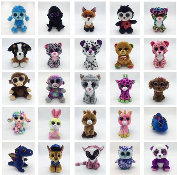 Ty Beanie Boos Plüsch Stofftiere 15cm Großhandel Big Eyes Tiere Weiche Puppen für Kinder Geschenke Ty Toys Big Eyes Stofftiere KKA4108
