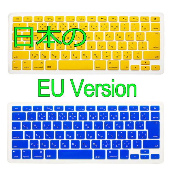 Japanese EU Version For MacBook Air Pro Retina 13 15 17 inch Silicone Colorful Keyboard Sticker Cover Protector Skin Laptop