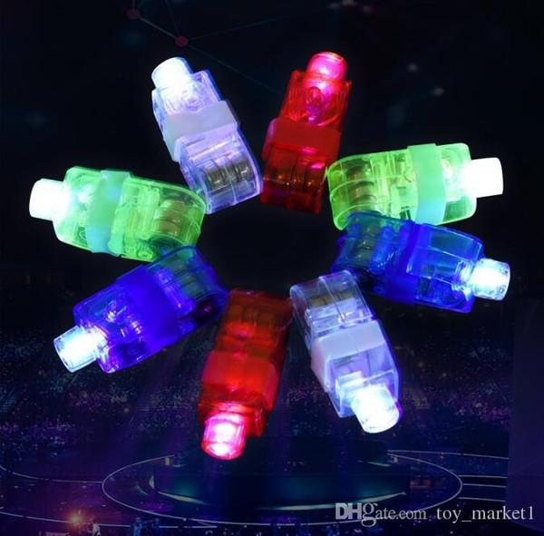 Manufacturers sale LED Finger Lamp LED Finger Ring gifts Lights Glow Laser Finger Beams LED Flashing Ring Party Flash Kid Toys