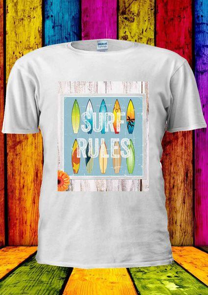 Серфинг правила летние каникулы Tumblr футболка жилет Майка Мужчины Женщины унисекс 1651 2018 смешной тройник, 100% хлопок прохладный, прекрасный лето футболки топы