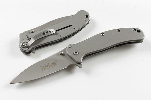 Couteau pliant Kershaw 1730SS à ouverture rapide assisté Couteau à lame en acier revêtu de titane 8Cr13