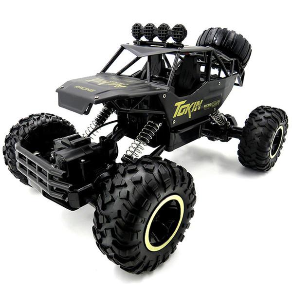 1:12 4WD Cars 37cm Alloy 2.4GHZ Radio Control RC Trucks Super Power High Speed Black Trucks Off-Road Toys for Children