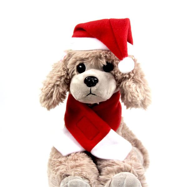 Universal Christmas Air Festive Animaux Chapeaux Écharpe Pour Pet Changer Nouvel An Cape De Noël Vêtements Personnalisé Prix Usine