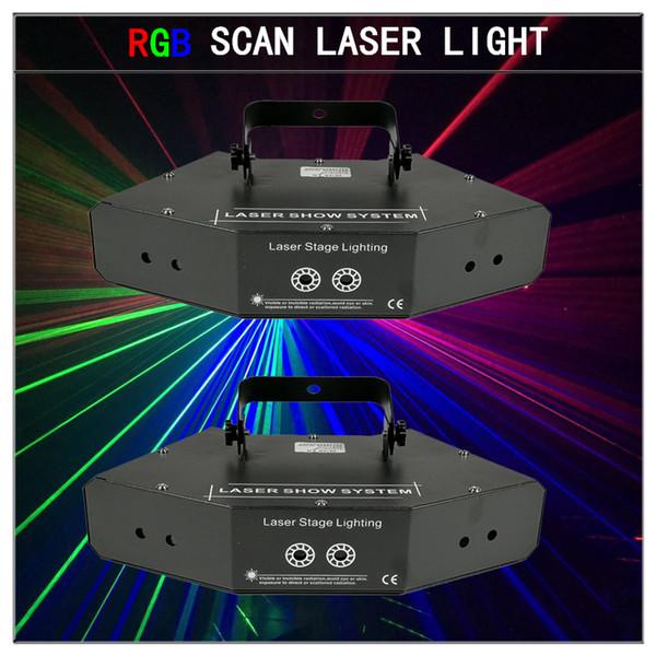 2pcs/ scan laser light dmx512 rgb laser lights gobo laser light Professional stage lighting equipment dj lights
