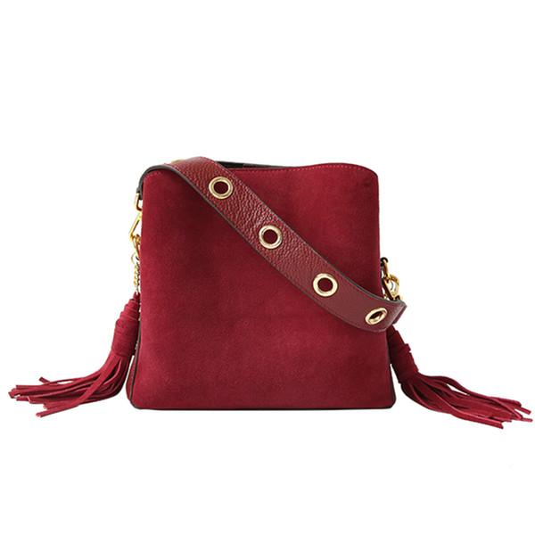 Jollque Marke Quaste Umhängetasche Weibliche Vintage Crossbody Taschen für Frauen 2018 Eimer Tasche Handtaschen Designer Matte Sac ein Main