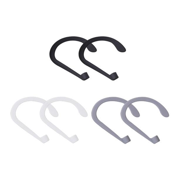 Marsnaska Silicone Earhook Holder para Apple AirPods Strap Silicone Sports Anti-perdida Ear Hook 1 Par