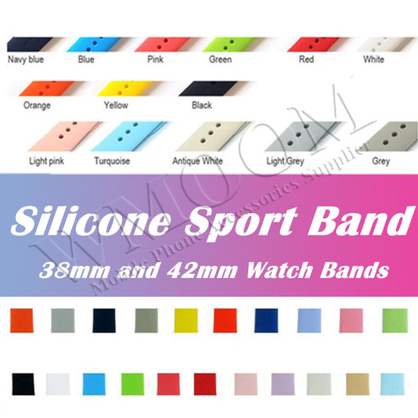 28 Colors Watch Band Rubber Strap For Watch Silicone Smart Watch Bracelet Replacement Band 38mm 42mm 40mm 44mm Sports Edition