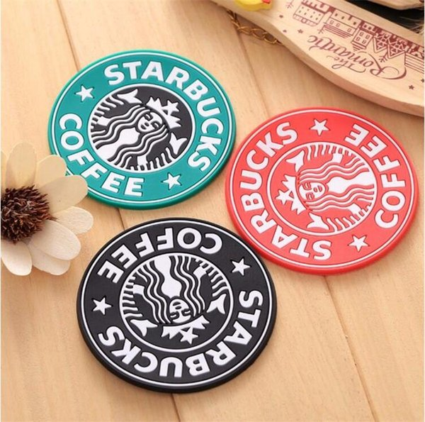 Classic Silicone Coasters Starbucks Cup Sea-maid Coffee Coasters Cup Mat Circular Antiskid Coasters Heat Insulation Pads Coffee Cups Mats