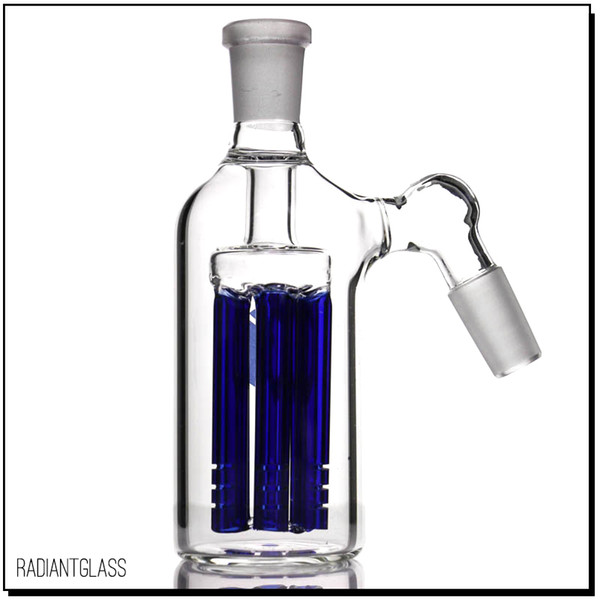 6 Arm tree perc ash catcher 45 degree Wholesale high quality 14mm blue for water pipe