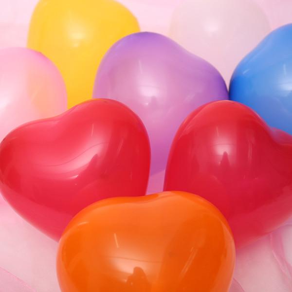 Palloncini a forma di cuore 100pcs palloncini di lattice di nozze favori decorazione palloncino di alta qualità 12 pollici multi colori spedizione gratuita