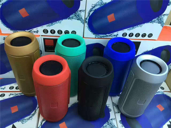 Wireless Bluetooth Speaker HIFI Mini Portable Outdoor Waterproof Charge2 Subwoofer Stereo Speakers Support FM Radio TF Card Music Player