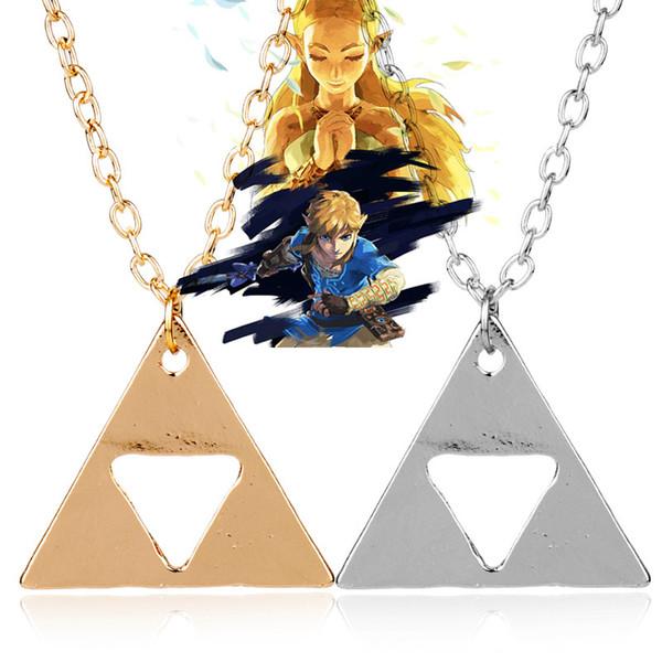 Giochi Gioielli Anime The Legend of Zelda The Triangle Collana Charms Pendant Choker Necklace