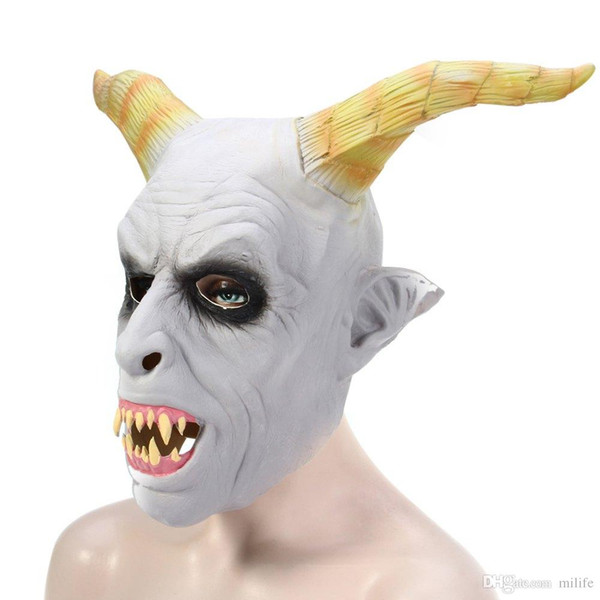 Devil Distinctive Ghost Mask Ghastliness Ferocious Feral Mask Fashionable Full Face Mask For Thriller Whimsy Halloween Party