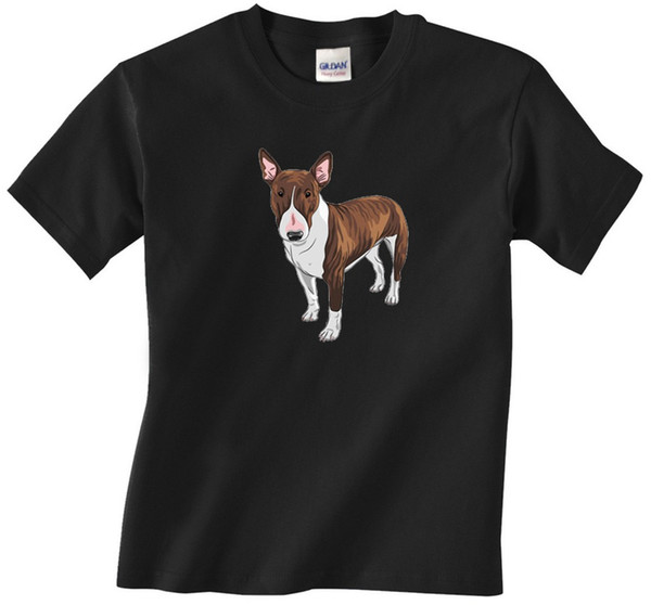 2018 New Cotton Camiseta Bull Terrier Dog - Branco Bull Terrier - Marrom Bull Terrier - T-shirt dos homens Moda T-shirt