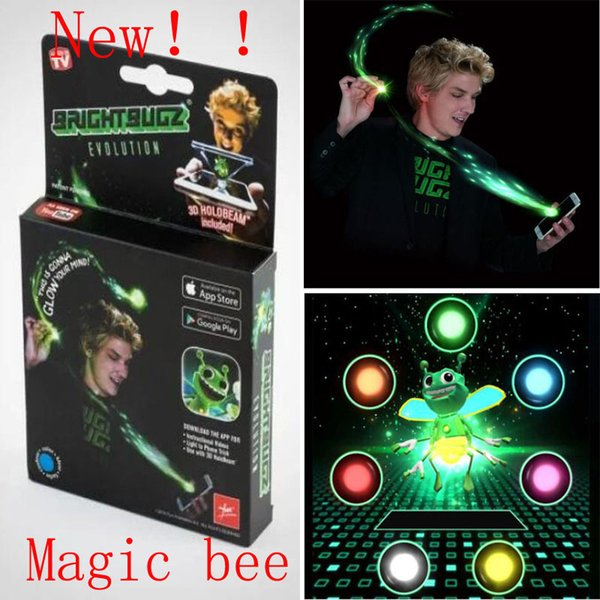 Bright BugZ Magically Flies From Hnad To Hand Magic Lights 3D Bees Download APP Toy Lamp Kit Illusion Trick Funny Kids Xmas gifts