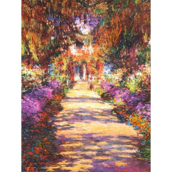 Fine art painting by Claude Monet Il Viale del Gardino impressionist canvas artwork for room decor