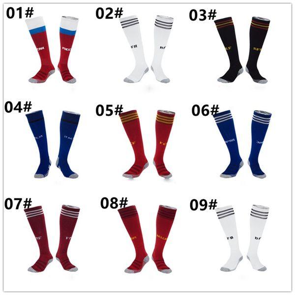Professional Elite Football Socks Long Knee Athletic Sports Sock for Men Fashion Striped Letter Printed Socks Top Quality Soccer Sock