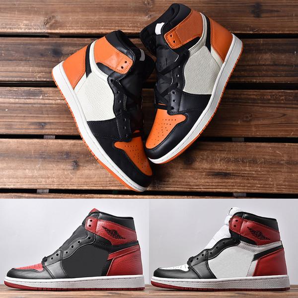 Miglior 1 High OG Top 3 uomo sneakers 2019 new black toe framment Chicago rosso bianco blu royal vietato mens scarpe da basket 40-46