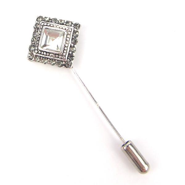 Squre Design Wedding Brooch Mujer Vintage Muslim Scarf Headkerchief Pin Hijab Suit Collar Hat Clip Women Stick Wholesale Jewelry