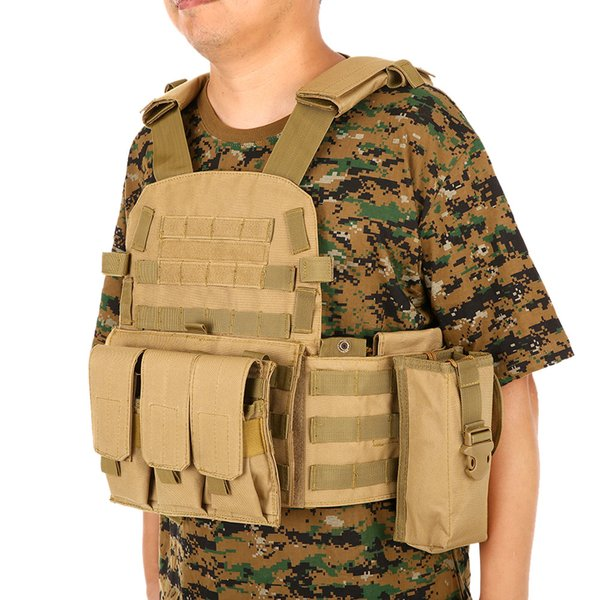 Outdoor Men Modular Molle Vest Hunting Chest Rig Gear Load Carrier Vest with Hydration Pocket Outdoor Bags