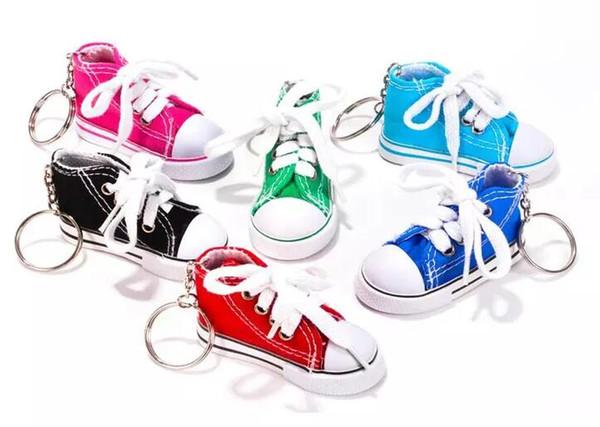 Оптовая 7 Цвет 3D Sneaker брелок новинка холст обувь брелок обувь брелок держатель брелок сумочка кулон выступает A443