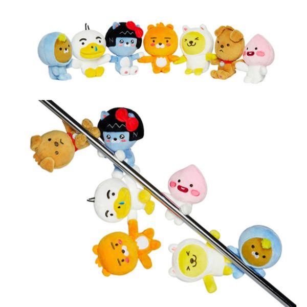 "Top New 7 Styles 4.3"" 11CM APEACH FRODO Jay-G Muzi Neo RYAN TUBE Plush Doll Anime Magnetic Keychains Pendants Stuffed Gifts Soft Toys"