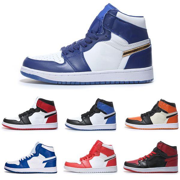High OG 1 Top 3 Men Basketball Shoes Wheat Gold Bred Toe Chicago Banned Royal Blue Fragment UNC New Love City Of Flight Shattered Backboard