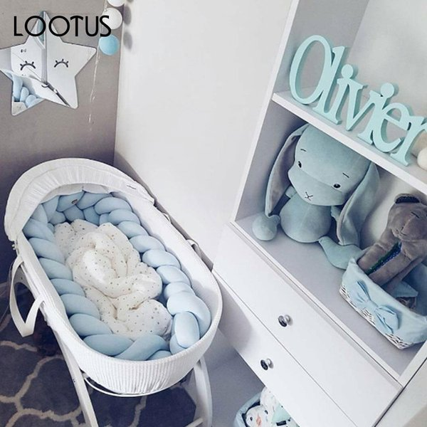 White/Gray/Blue/Pink Baby Bumper Pillow Bed Protector Plush Safe Soft Sofa Bumper Pad Pillow Crib Comfortable
