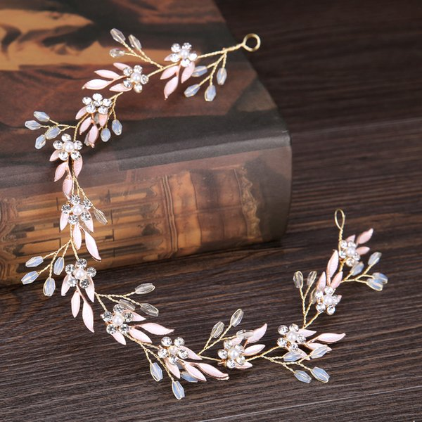 New Wedding Headbands For Flower Girls Head Accessories Women Bridal Wedding Headbands Golden Leavf Hair Jewelry