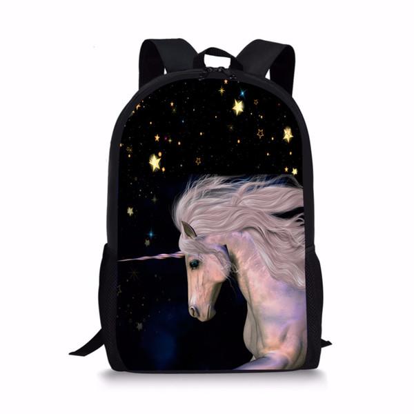 FORUDESIGNS Mochila escolar Unicorn Galaxy Galaxy Book Satchel Bolsas de escuela para adolescentes Mochila de moda para niñas al por mayor