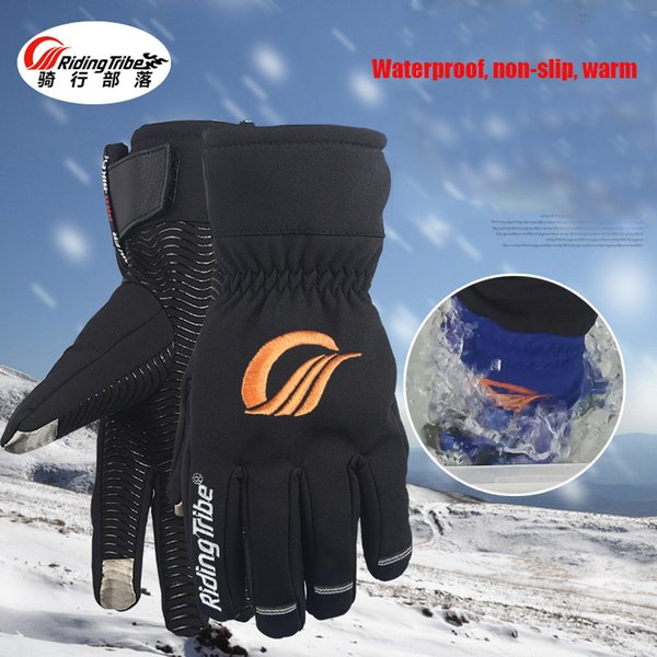 Motorcycle gloves winter Keep Warm With Etended Cuff Protect Wrist Waterproof Touch Screen dirt bike gloves