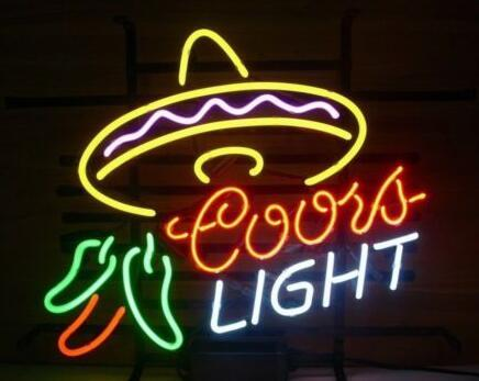 Custom New Coors Light Cayenne Cushaw Real Glass Neon Sign Light Beer Bar Sign Send need photo 19x15""