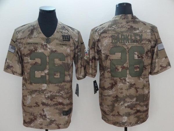 timeless design 2539d 3f320 2018 2019 Saquon Barkley Camo Jersey Odell Beckham Jr Salute To Service New  York Giants Custom American Football Jerseys Mitchell Trubisky Sports From  ...