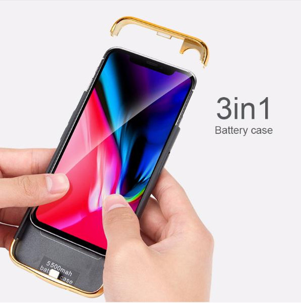 3in1 Ultra-Thin Shell For iphone 6 6S 7 8 Plus X Xs XR Max 2018 Battery Cases Rechargeable External Portable Power bank Charger Cover Case