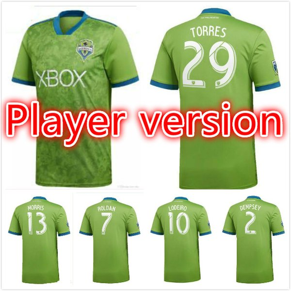 reputable site b38a0 cff69 2019 Player Version 18 19 MLS Soccer Jersey 2018 2019 Seattle Sounders FC  Green DEMPSEY ROLDAN LODEIRO MORRIS Football Shirts From Xiebaoren1985, ...