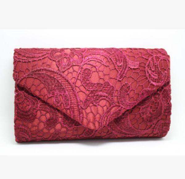 wine red evening bag