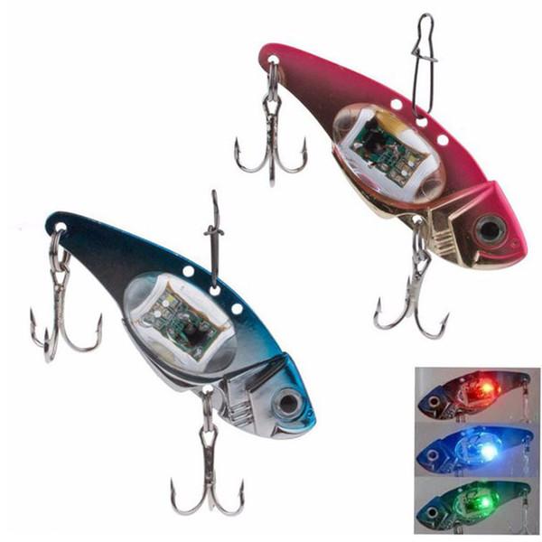 100 pieces LED Light Fishing Lure Treble Hook Electronic Fishing Lamp Bait Tackle Fish Lure Light Flashing Lamp Baits