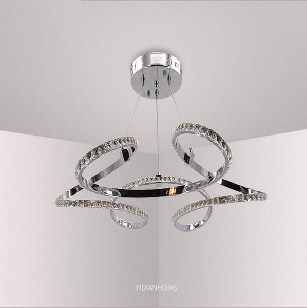 New Modern Stylish Aluminium LED pendant lights High quality K9 crystal Pendant lamp Hanging light fixture for dinning living room bedroom