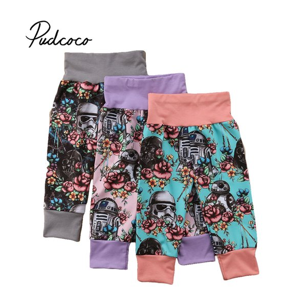 Pudcoco 2018 Nouveau Dessin Animé Enfant En Bas Âge Enfants Bébé Filles Garçons Pantalon Floral Print Pantalon Leggings Pantalon 1-5T